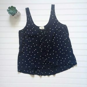 Pins & Needles Sleeveless Heart Print Blouse